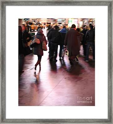 Alone In New York Framed Print by Wilko Van de Kamp