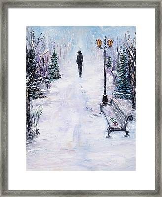Alone In Park Framed Print by Boyan Dimitrov