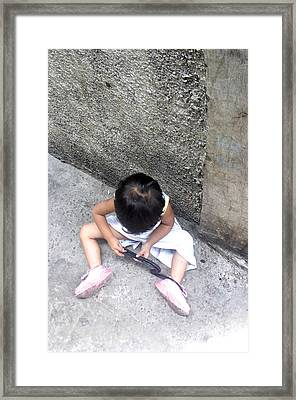 Alone In Play Framed Print by Jez C Self
