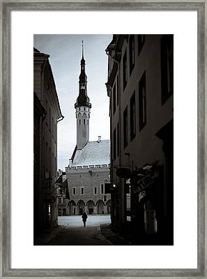 Alone In Tallinn Framed Print by Dave Bowman