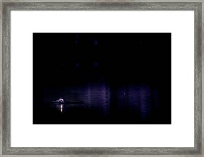 Framed Print featuring the photograph Alone In The Dark by Mark Andrew Thomas
