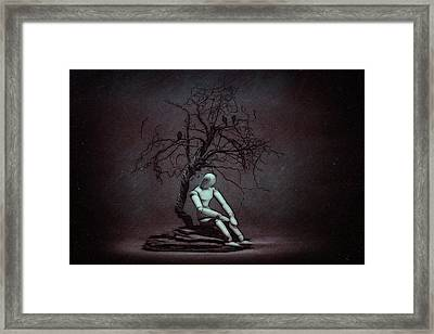Alone In The Dark Framed Print by Tom Mc Nemar