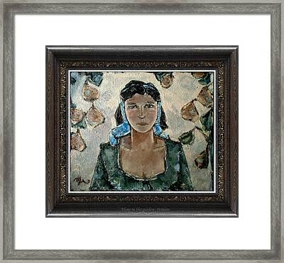 Alone In The Garden Framed Print
