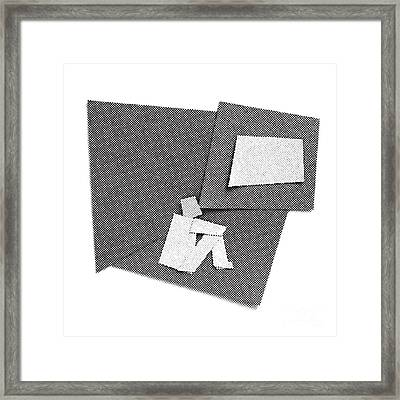 Alone In The Room Framed Print