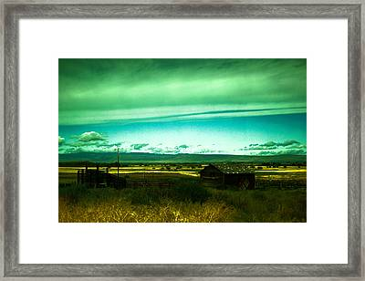 Alone In The Valley Framed Print by Jeff Swan