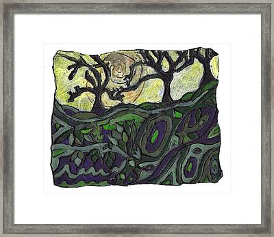 Alone In The Woods Framed Print