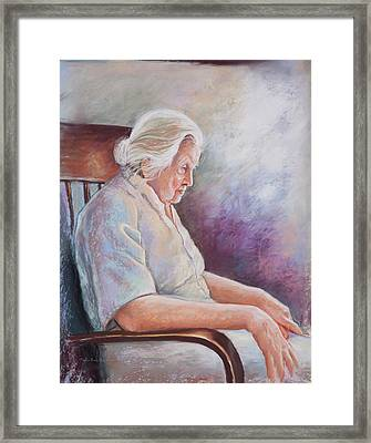 Alone In Thoughts Framed Print