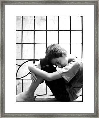 Alone Framed Print by Jose De la Cuadra