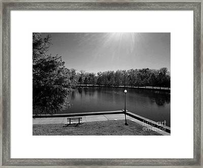 Alone Now In Thought - Black And White Framed Print by Scott D Van Osdol