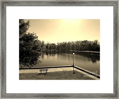 Alone Now In Thought - Sepia Framed Print by Scott D Van Osdol
