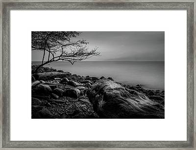Alone On Spanish Banks Framed Print