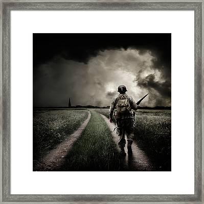 Alone On The 6th Framed Print by Ian David Soar