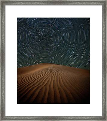Alone On The Dunes Framed Print