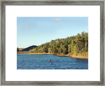 Alone On The Lake Framed Print by Gordon Beck