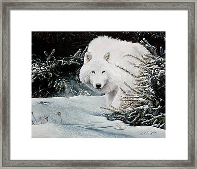 Alone On The Path Framed Print