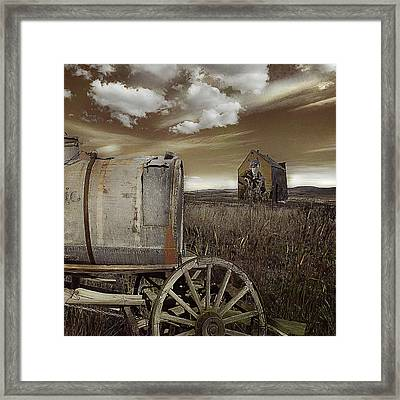 Alone On The Plains Framed Print by Jeff Burgess