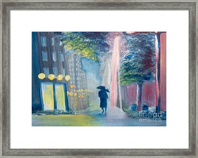 Framed Print featuring the painting Alone by Saundra Johnson