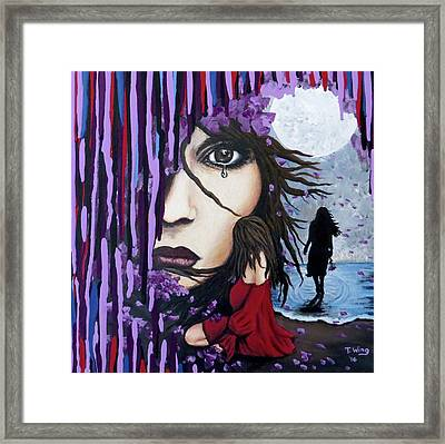 Framed Print featuring the painting Alone by Teresa Wing