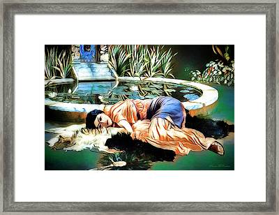 Alone Time Framed Print by Pennie McCracken