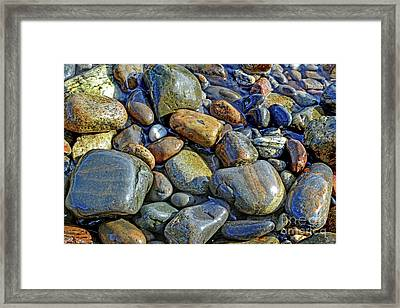 Alone With Cobblestone Framed Print