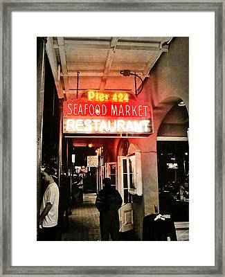 Along Bourbon Street - New Orleans Framed Print