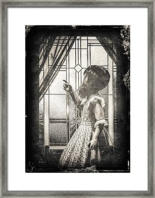 Along Came A Spider Framed Print by Bob Orsillo