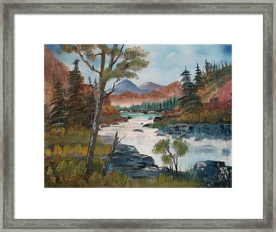 Along Canyon Drive Paradise Montana Framed Print