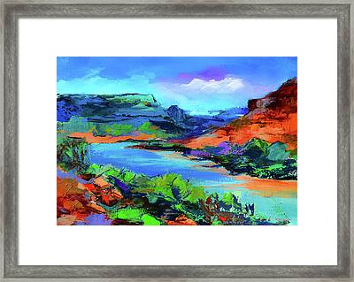 Along Colorado River - Utah Framed Print by Elise Palmigiani