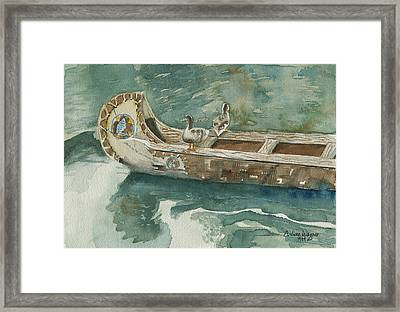 Along For The Ride Framed Print by Arline Wagner