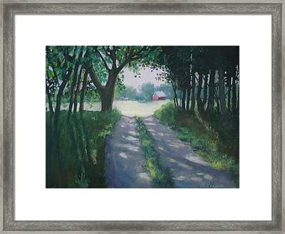 Along Kelderhouse Road Framed Print by Linda Preece