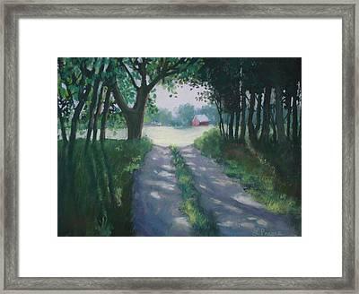 Along Kelderhouse Road Framed Print by Linda Preece
