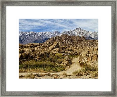 Along Movie Road Framed Print