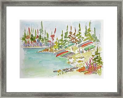 Along Patricia Lake Framed Print