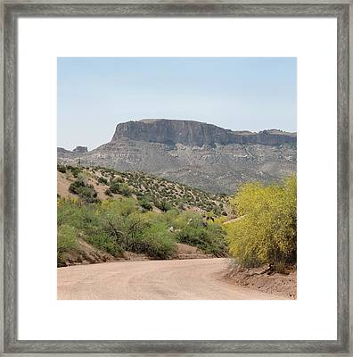 Along The Apache Trail Framed Print