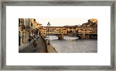 Along The Arno Framed Print by Joe Bonita