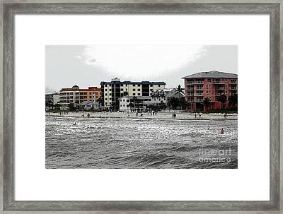 Along The Beach Framed Print by Kathleen Struckle