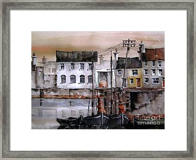 Along The Cladagh Galway Framed Print