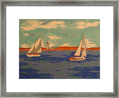 Along The Coast Framed Print by Biagio Civale
