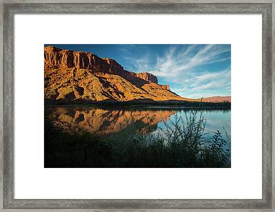 Framed Print featuring the photograph Along The Colorado by Gary Lengyel