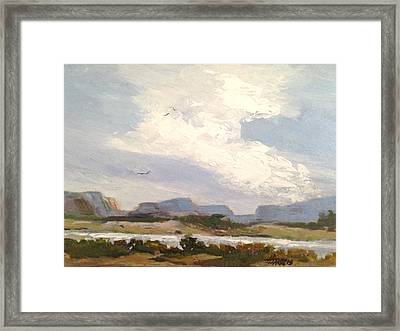 Along The Columbia Framed Print
