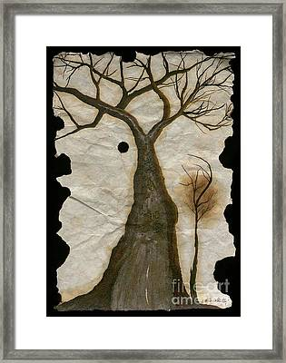 Along The Crumbling Fork In The Road Of The Tree Of Life Acfrtl Framed Print