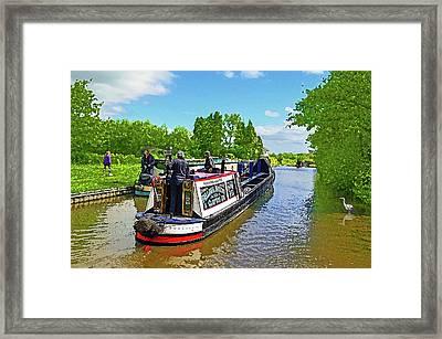 Along The Cut 2 Framed Print by Peter Allen