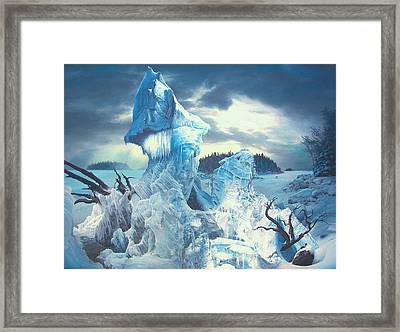 Along The Frozen Lake Framed Print by James McCarthy