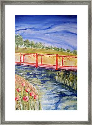 Framed Print featuring the painting Along The Greenbelt by Carol Duarte