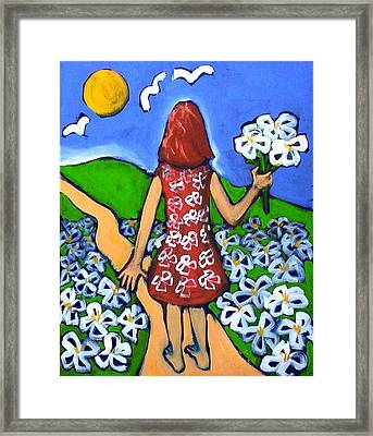 Along The New Path Framed Print