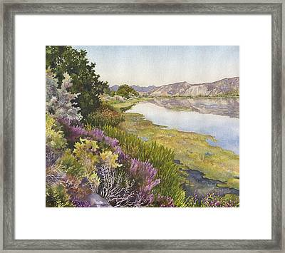 Along The Oregon Trail Framed Print by Anne Gifford