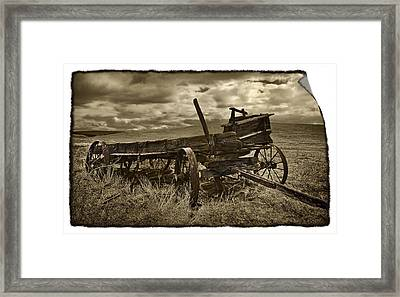 Along The Oregon Trail Framed Print by John Christopher