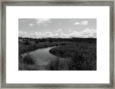 Along The Palouse River Framed Print by Matt McCune