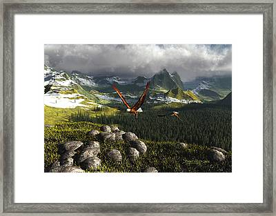 Along The Pinnacles Of Time Framed Print by Dieter Carlton
