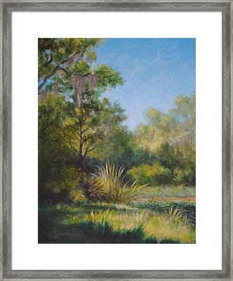 Along The Pond's Edge Framed Print